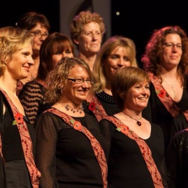 Enjoying our performance - North Wales Choral Festival 2014