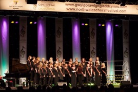 In performance at the North Wales Choral Festival 2014