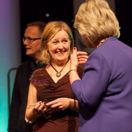 Lorraine Brown receiving the 1st place award, November 2014